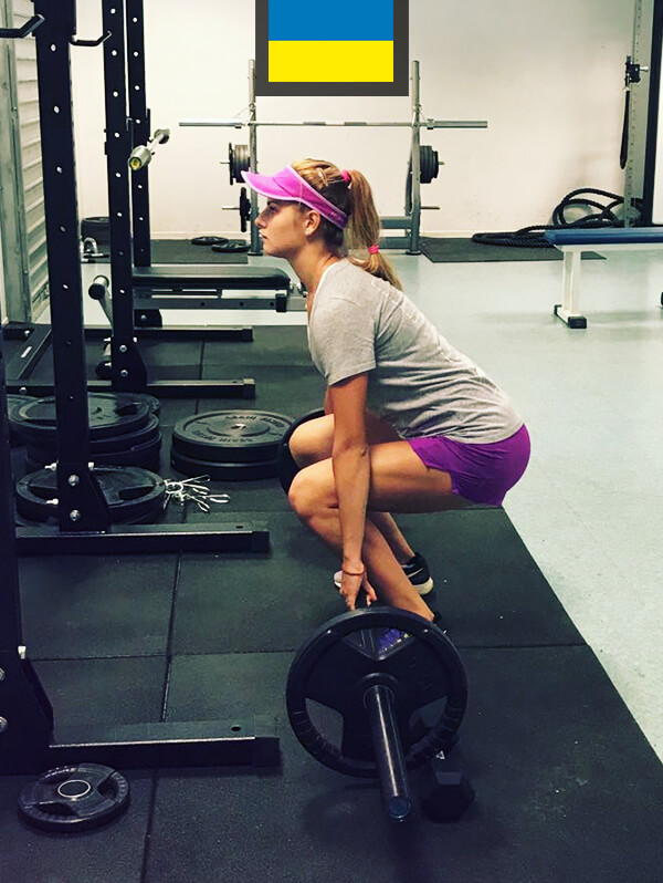 Katia Zavatska préparation musculaire BFS