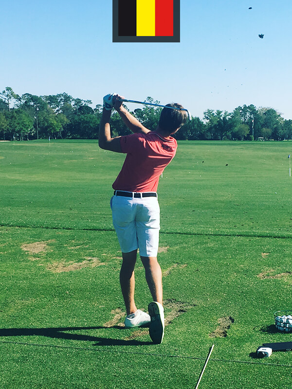 Thomas Detry entrainement BFS golf